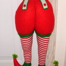 BOTTOMS UP ORNAMENT SANTAS HELPER BOTTOM HANGING ORNAMENT NEW GANZ CHRISTMAS HOME DECOR