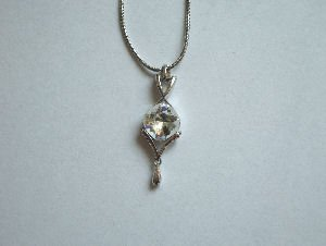 Original Design by William Wang Swarovski Crystal Clear Necklace With Platinum Finish