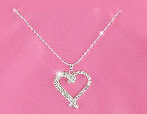 Austrian Crystal Heart Necklace
