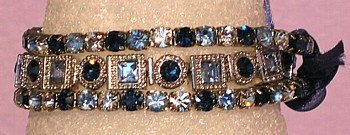 3 Bracelets Squares and Rounds Montana Mix Crystals