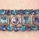 3 Bracelet Aqua Tanzanite Square Round Bunch Bracelet