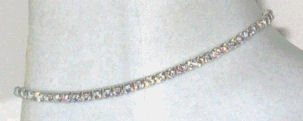 Swarovski Crystal Aurora Borealis Anklet