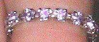 Swarovski Crystal Violet Toe Ring