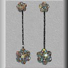 Swarovski Rani Clear Aurora Borealis Earrings