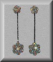 Swarovski Rani Clear Aurora Borealis Earrings