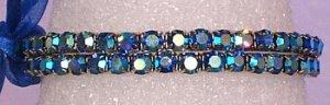 2 Strand Sapphire Swarovski AB Bracelet