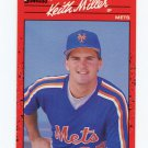 1990 Donruss Baseball #507 Keith Miller - New York Mets
