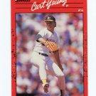 1990 Donruss Baseball #505 Curt Young - Oakland Athletics