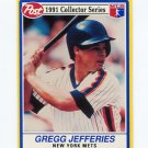 1990 Post Baseball #09 Gregg Jefferies - New York Mets
