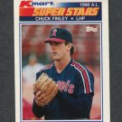 1990 K-Mart Superstars Baseball #28 Chuck Finley - California Angels
