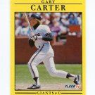 1991 Fleer Baseball #258 Gary Carter - San Francisco Giants