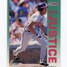 1992 Fleer Baseball #360 David Justice - Atlanta Braves