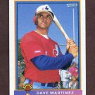 1991 Bowman Baseball #455 Dave Martinez - Montreal Expos