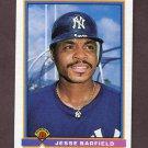 1991 Bowman Baseball #169 Jesse Barfield - New York Yankees
