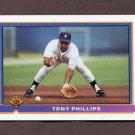 1991 Bowman Baseball #137 Tony Phillips - Detroit Tigers