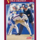 1991 Score Rookie/Traded Baseball #057T Vince Coleman - New York Mets