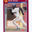 1991 Score Rookie/Traded Baseball #019T Willie McGee - San Francisco Giants