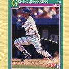 1991 Score Baseball #660 Gregg Jefferies - New York Mets