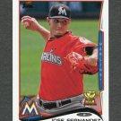 2014 Topps Mini Baseball #660 Jose Fernandez - Miami Marlins