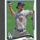 2014 Topps Mini Baseball #646 Dan Haren - Los Angeles Dodgers