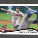 2014 Topps Mini Baseball #507 Justin Masterson - Cleveland Indians