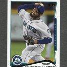 2014 Topps Mini Baseball #497 Fernando Rodney - Seattle Mariners