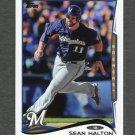 2014 Topps Mini Baseball #394 Sean Halton - Milwaukee Brewers