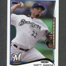2014 Topps Mini Baseball #351 Matt Garza - Milwaukee Brewers