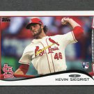 2014 Topps Mini Baseball #344 Kevin Siegrist RC - St. Louis Cardinals