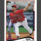 2014 Topps Mini Baseball #257 C.J. Wilson - Los Angeles Angels