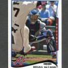 2014 Topps Mini Baseball #225 Brian McCann - Atlanta Braves