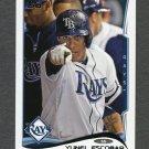 2014 Topps Mini Baseball #184 Yunel Escobar - Tampa Bay Rays