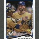 2014 Topps Mini Baseball #181 Jim Henderson - Milwaukee Brewers