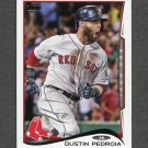 2014 Topps Mini Baseball #166 Dustin Pedroia - Boston Red Sox