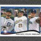 2014 Topps Mini Baseball #117 Anibal Sanchez / Bartolo Colon / Hisashi Iwakuma LL