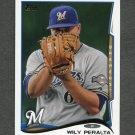 2014 Topps Mini Baseball #096 Wily Peralta - Milwaukee Brewers