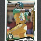 2014 Topps Mini Baseball #014 Yoenis Cespedes - Oakland Athletics