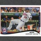 2014 Topps Mini Baseball #012 Aaron Hicks - Minnesota Twins