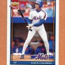 1991 Topps Traded Baseball #023T Vince Coleman - New York Mets