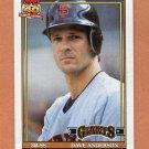 1991 Topps Baseball #572 Dave Anderson - San Francisco Giants