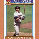 1991 Topps Baseball #393 Carlton Fisk AS - Chicago White Sox Ex