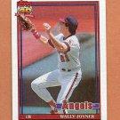1991 Topps Baseball #195 Wally Joyner - California Angels