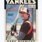 1986 O-Pee-Chee Baseball #183 Gary Roenicke - New York Yankees