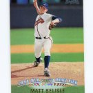 1999 Stadium Club Baseball #339 Matt Belisle SP RC - Atlanta Braves