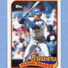 1989 Topps Baseball #718 Glenn Braggs - Milwaukee Brewers