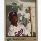 1992 Studio Baseball #052 Ivan Calderon - Montreal Expos