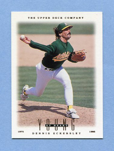 1996 Upper Deck Baseball #101 Dennis Eckersley YH - Oakland Athletics