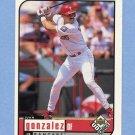 1999 UD Choice Baseball #152 Juan Gonzalez - Texas Rangers
