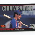 1993 Triple Play Baseball #063 Scott Chiamparino - Texas Rangers