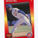 1992 Triple Play Baseball #042 George Bell - Chicago Cubs